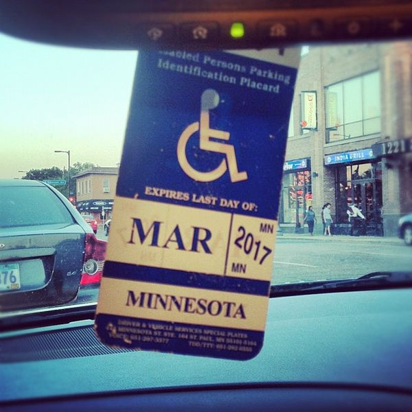 Picture of a disability parking pass